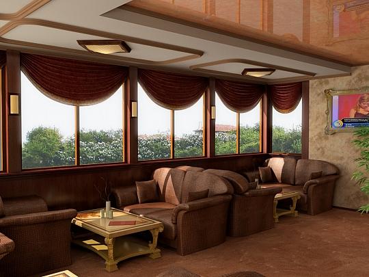 Интериорни 3Д визуализации на фоайе на хотел