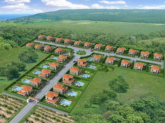 3Д визуализация Вилно селище екстериори