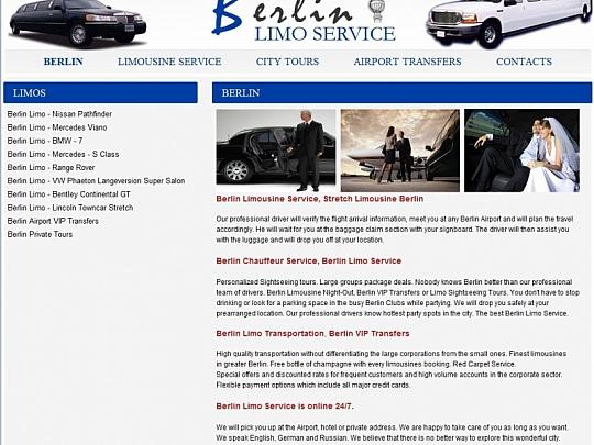 Изработка на уеб сайт за Рент-а-кар в Берлин