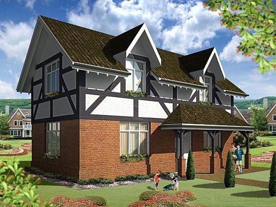 3Д екстериорни визуализации на Английски къщи