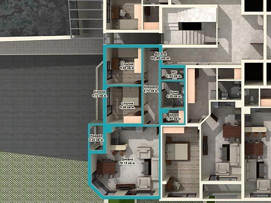 3D етажни разпределения