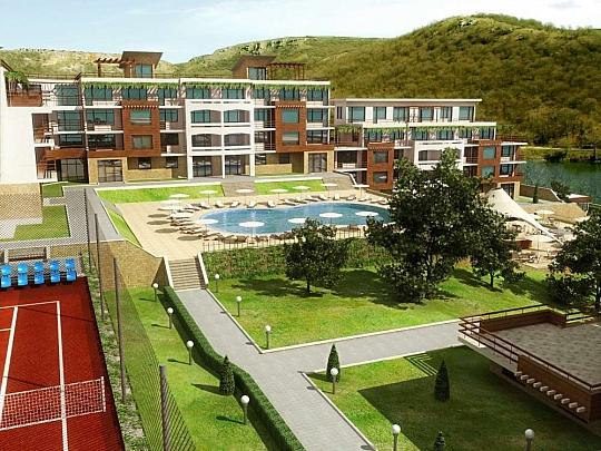 Изработка на 3Д визуализации за идеен проект на комплекс до Язовир Оброчище