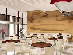 3D interior project for a bar Sofia Airport