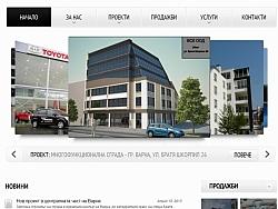Изработка на уеб сайт за Варненска строителна компания