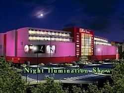 Изработка на 3Д анимация светлинно шоу Мол Варна