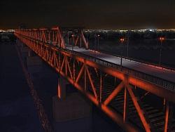Светлинно шоу Дунав Мост 3D анимация