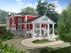 3D визуализации на сграда Белия Дом