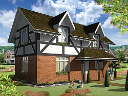 Exterior 3D visualizations Houses in England
