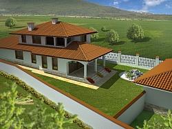 Къщи в с. Приселци 3D визуализации