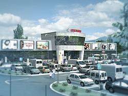 Изработка на 3D анимация Търговски Комплекс в Самоков