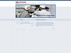 Изработка на уеб сайт за фирма SIPA SA