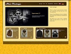 Изработка на онлайн магазин Vintage Alex