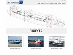 Корпоративен уеб сайт за IHB Шип дизайн Варна