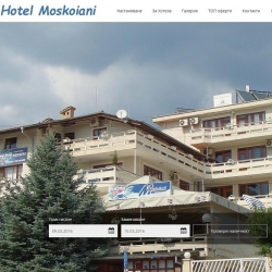 Web site for a hotel with booking system and responsive design